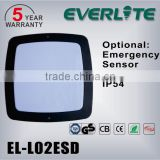 5 years warranty 12w-20w die-casting photocell/sensor/emergency/dimming functional led wall light