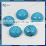 Wuzhou beauty Iran turquoise Aquamarine color round brilliant cut for dresses decoration