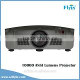 Multimedia High Brightness 1080p motorized projector ceiling mounts data show video 10000 lumens projector