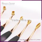 2016 rose gold New Top Quality 10Pcs Oval Tooth Custom Logo Makeup Brush Set
