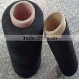 recycled black polyester cotton yarn and cotton thread