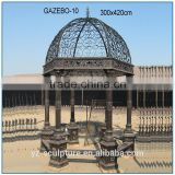 garden decorative figure statue cast iron gazeb metal decorative gazebo