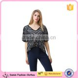 new design ladies heavy sequin embroideried embellishment beaded top Women Blouse