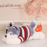 Christmas gift plush lying husky dog doll toy for Valentine's Day and children gifts