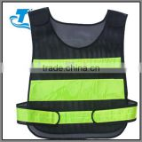 Hottest unisex mesh linned black reflective safety vest