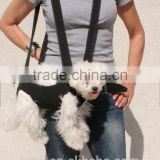 Summer Crochet Pat Dog Sling Carrier With Pockets