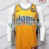 Latest design sublimation basketball uniform yellow practice jerseys