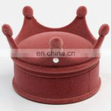 Earring Ring and necklace storage velvet Crown Shape jewelry gift Box