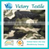 100% Polyester Knitted Camouflage Coral Fleece Fabric