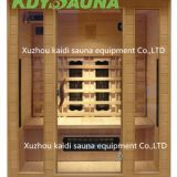 3 person ceramic heater wooded far infrared sauna room