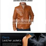 men's leather jackets with stand up collar, Men Leather Jacket / Genuine Leather Jacket / Sheepskin Leather Jacket