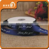 Christmas 20mm 100% polyester decoration satin ribbon roll
