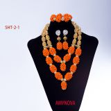 Nigerian beads necklace jewelry set wholesale dubai jewelry sets