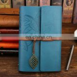 Vintage Leather Journal Notebook Classic Retro Ring Binder Diary Book