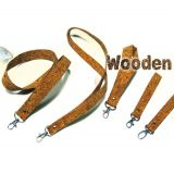 Eco-friendly wooden material lanyard 100%made from wood natural and recycled