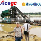 River gold separating machine / gold dredge / gold dredge boat for sale