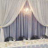 RK wedding pipe and drape black velvet drape for trade show