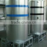 Insulated liquid stainless steel IBC container