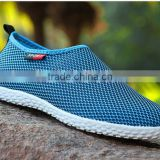 men summer breathable running mesh fabric felxible stretch sneakers shoes