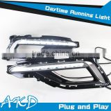 AKD Car Styling Hyundai Sonata DRL Original New Sonata Led DRL 2014 Sonta9 LED Daytime Running Light Good Quality LED Fog lamp