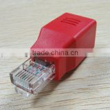 Red Network Male to Female RJ45 LAN Adapter for Desktop/Notebook/PC