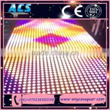 2015 ACS Charming liquid Flowing Rainbow Colorful Interactive Led Dance Floor