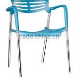 replica graceful Spanish Design stainless steel plastic seat and back Jorge Pensi stacking toledo chair for dining room
