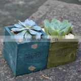 wholesale zakka vintage wooden planter succulent plants pots