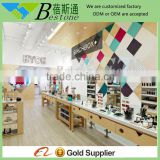Beauty shopping mall used wooden manicure tables for sale