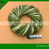 natural wicker rattan crafts outdoor Christmas wreaths