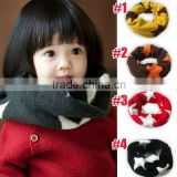 Winter Warm Star Circle Loop Baby Knitted Scarf