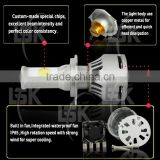 powerful waterproof build in fan with excellent heat dissipation led car light bulbs h8 led headlight for vehicles