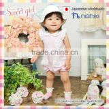 2016 new Japanese brand wholesale products cute cotton baby dress infant rompers children garment kids clothes toddler clothing
