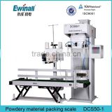 5kg semi automatic powdery material packing scale with stitiching machinery manufacturer