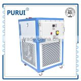 recirculating cooling and heating circulator oil bath chiller