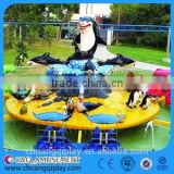 Amusement park equipment, popular spin rides, rotate amusement rides, Fight Shark Island, water shooting/ laser shooting