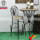 wholesale antique vintage Industrial metal wooden bar stool                                                                                                         Supplier's Choice