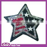 Decorative Five-Star Shape Sequin Applique For Accessory