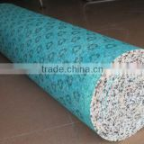 green waterproof underlay for printed carpet for weddings hotels