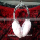 Fashion colored women rabbit fur ear muffs for winter