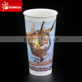 Disposable cold drink two sided poly coated paper cup
