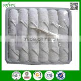 wholesale 10x10 cotton terry disposable airline hot towel tray