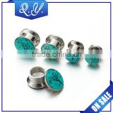 Fine tree plug tunnel jewelry christmas flesh tunnels ear expander body jewelry wholesale