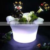 LED remote control rechargeable LED ice bucket bar wine champagne bucket KTV colorful champagne bucket