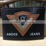 Directly Factory customized imitation Leather patches beanies for garment