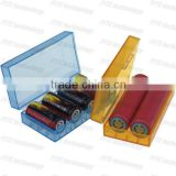 Good quality and low price colorful plastic case/storage boxes for 18650 battery 4*18650 or 2*18650