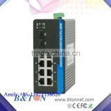 1000M 2 SFP Ports +4RJ45 Ports Unmanaged Industrial Gigabit Ethernet POE Fiber Media Converter