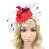 2015 New party bride small hat veil Retro Veil Birdcage Pillbox Hair Accessories for Wedding Tea Party headband