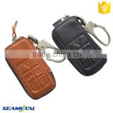 Car Genuine Leather Remote Key Cover Case 5 Button Accessories For Volvo S60 XC60 V60 V40 S80