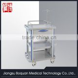One drawer plastic-steel columns with a plate for loading one dust basket medium size ABS treatment trolley
